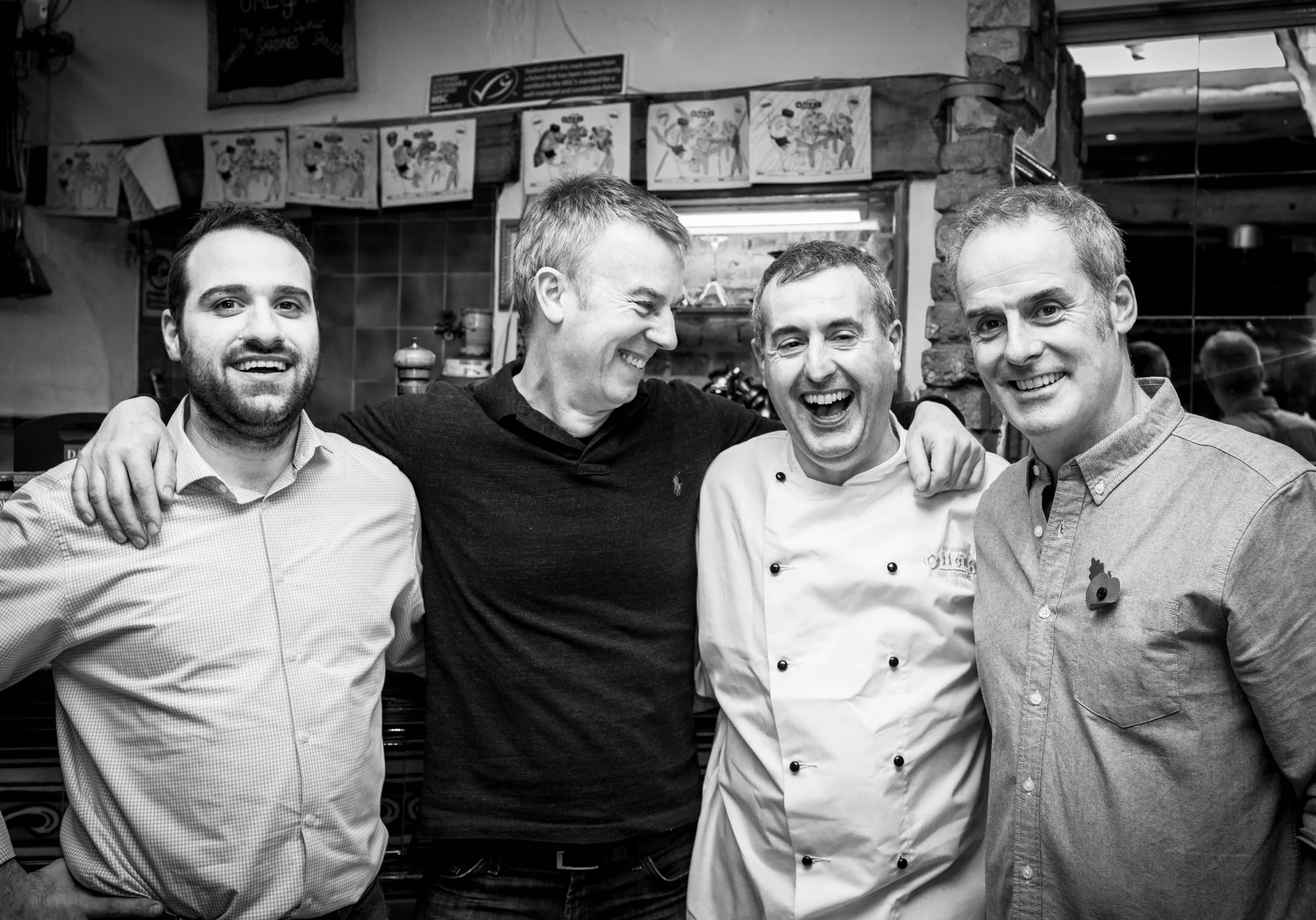 Photo of Stelios from Ceres | Pure Food Innovation, Fred Capel from Chez Fred, Harry Niazi from Olleys and Phil Vickery TV Chef