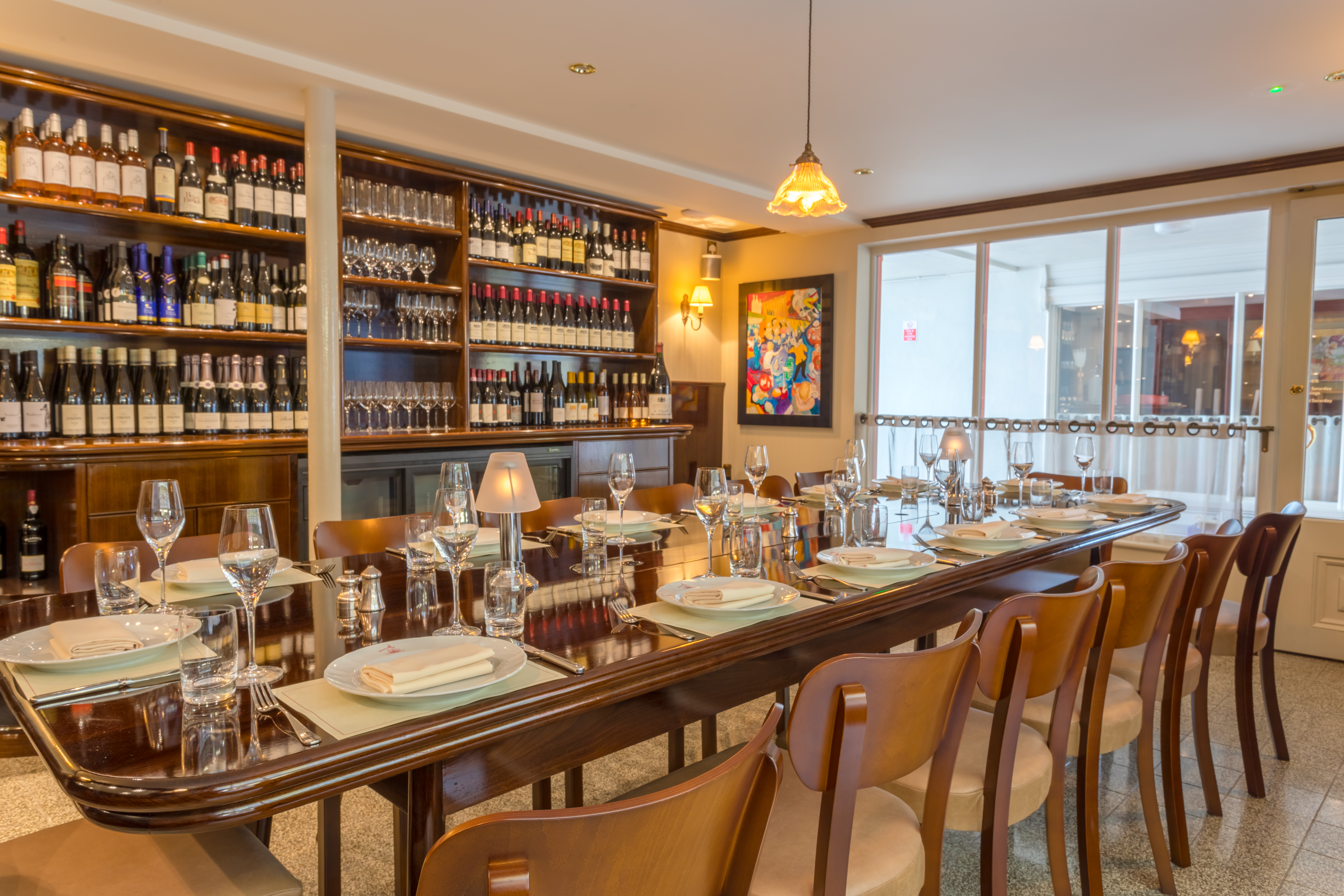 Internal photo of The Cantina Private Dining Room at the Seahorse in Dartmouth. seafood restaurant