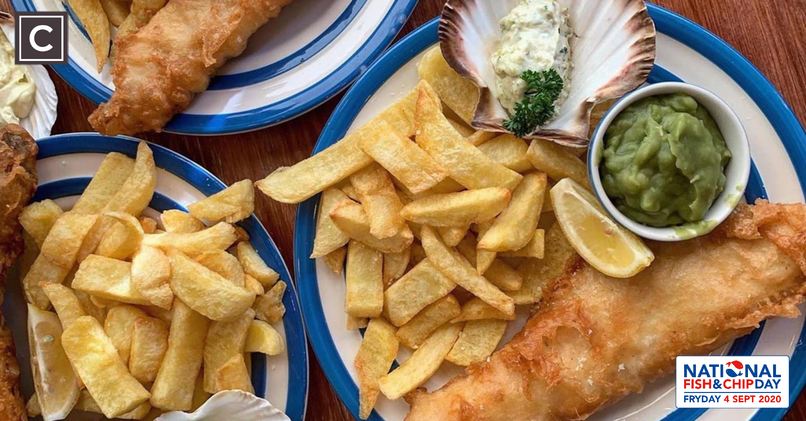 fish & chips, National Fish & Chip Day, Friday 4th September