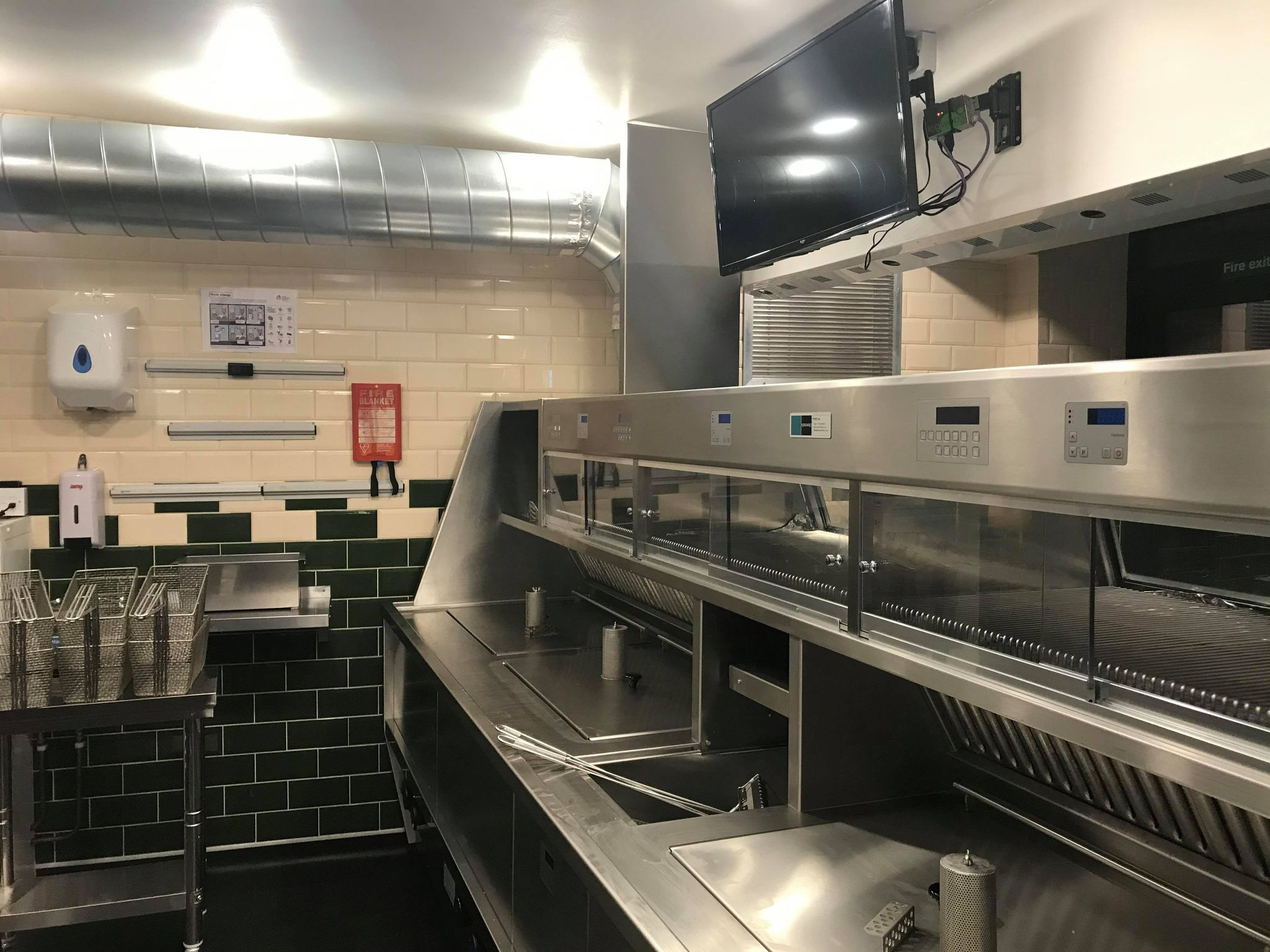 behind the new KFE range of the new Burton road chippy in Lincoln.