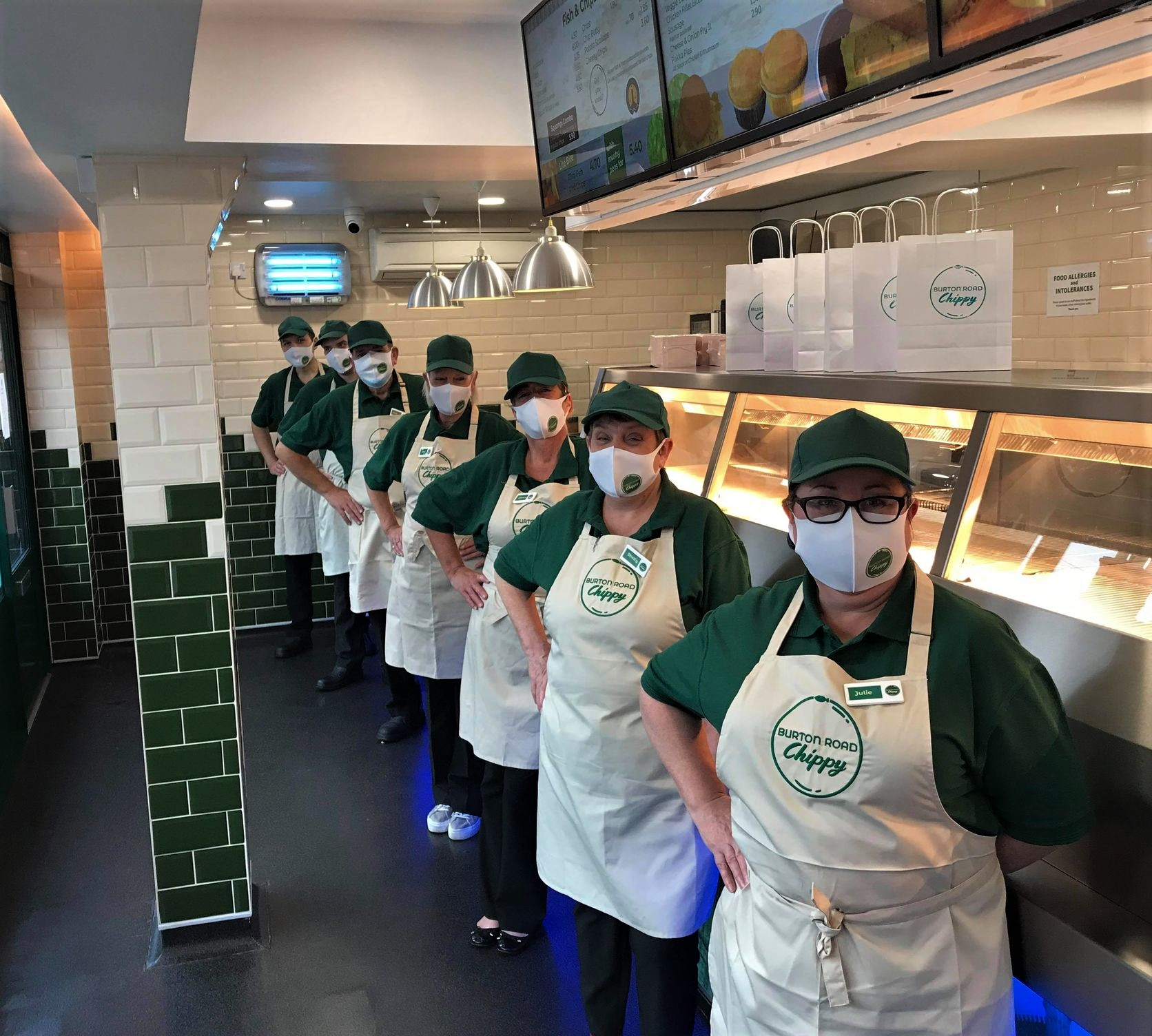 Staff at Burton Road Chippy in Lincoln.