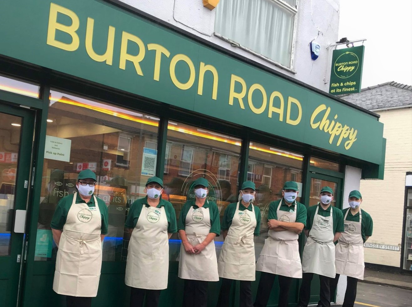 outside the new Burton road chippy in Lincoln.