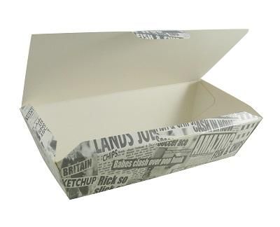 takeaway packaging, bagasse, pla, corrugated board, fish & chips